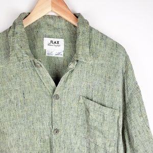 FLAX Jeanne Engelhart Linen Short Sleeve Tunic
